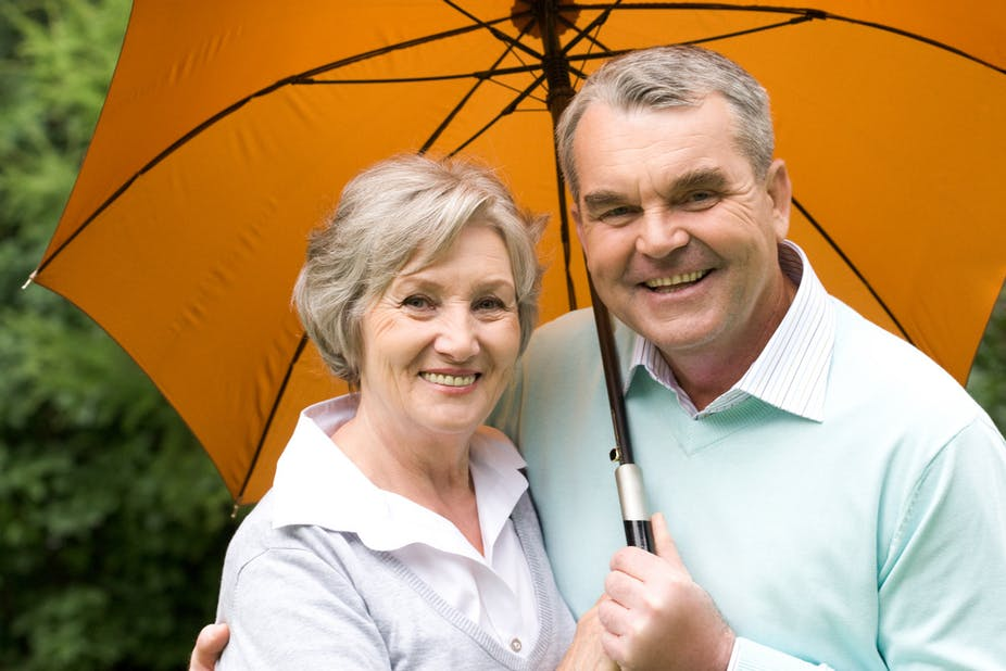 Testosterone Therapy Covered by Insurance Older Couple Under Umbrella